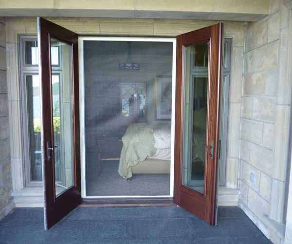 Retractable screen door retractable screens french door for Hidden screens for french doors